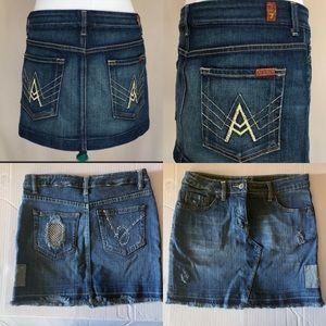 7 for all mankind & Bebe Bundle of 2 Denim Skirts
